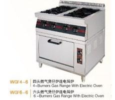 Bếp gas 6 hộc kèm lò nướng điện Wailaan WGF6-6