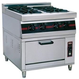 Bếp âu 4 đầu kèm lò nướng gas