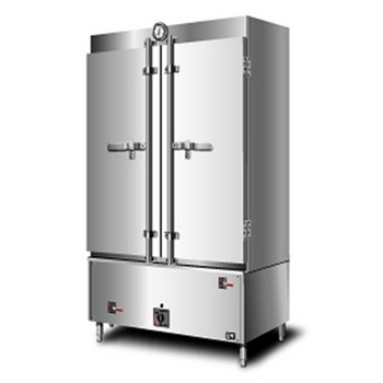 Tủ nấu cơm gas + điện công nghiệp inox SUS304 80 KG