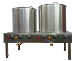 Nồi nấu phở điện sử dụng núm vặn điều chỉnh nhiệt độ