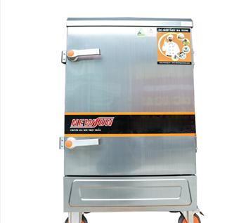 Tủ nấu cơm 8 khay dùng điện nhập khẩu (24kg gạo/lần) KN-THTQĐ8K