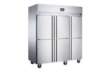 Tủ đông mát 6 cánh inox Kolner NKCD1.6L6W (Lạnh quạt gió)