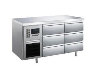 Bàn mát 6 ngăn kéo inox Kolner BN14-XD6 (Làm lạnh quạt gió)