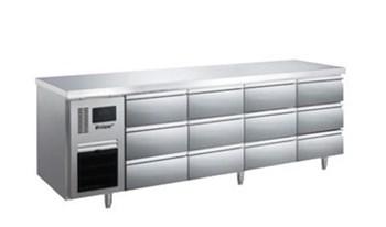 Bàn mát 12 ngăn kéo inox Kolner BN23-XD12 (Làm lạnh quạt gió)