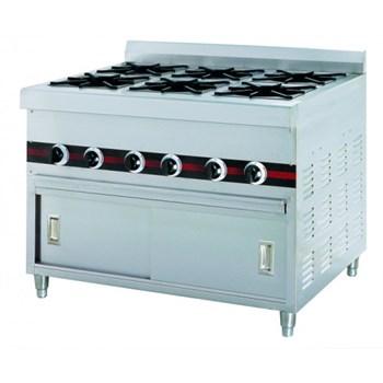 Bếp âu 6 họng dùng gas có tủ WTA-610A