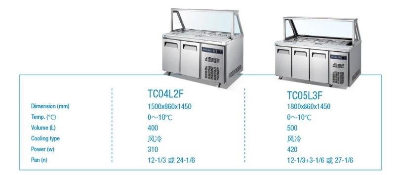 ban mat trung bay salad 3 canh okasu tc05l3f hinh 0