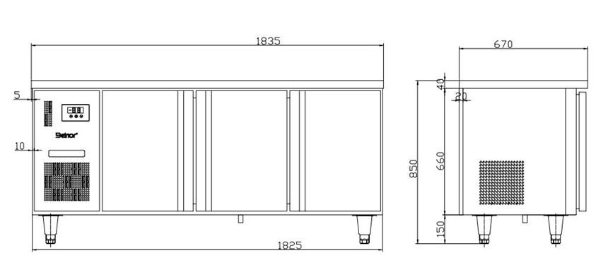 ban mat 3 canh inox kolner bn18-xl3 (lam lanh quat gio) hinh 0