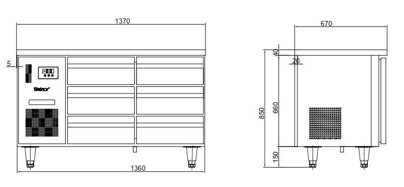 ban mat 4 ngan keo inox kolner bn14-xd4 (lam lanh quat gio) hinh 0